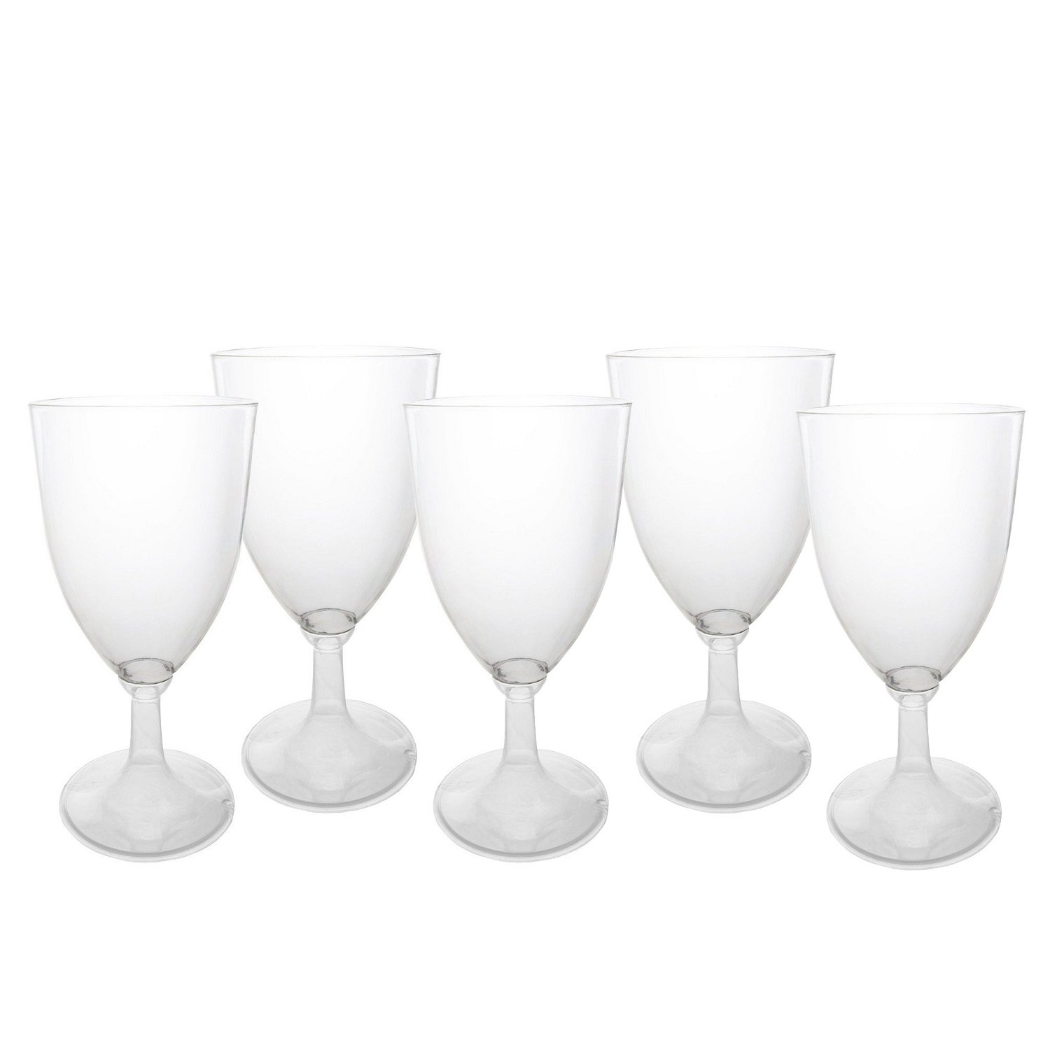 Party Essentials N200450 144Count Hard Plastic Onepiece 8 oz Wine Glasses, Clear by Party Essentials