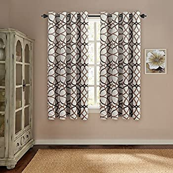 maytex jardin embroidered thermal window curtain 54 by 63 inch mocha home kitchen. Black Bedroom Furniture Sets. Home Design Ideas