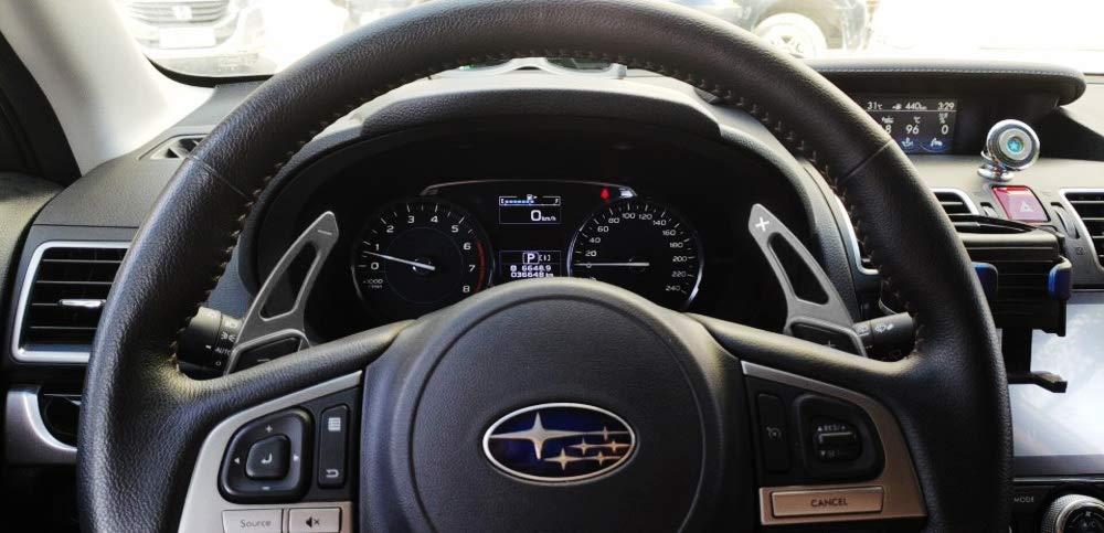 iJDMTOY Aluminum Steering Wheel Paddle Shifter Extensions For Subaru BRZ Impreza WRX Legacy XV Crosstrek Red Matte Finish