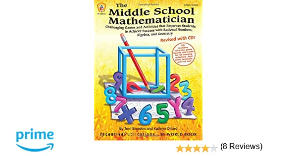 Math Worksheets fun middle school math worksheets : Amazon.com: The Middle School Mathematician, Revised with CD (TRES ...