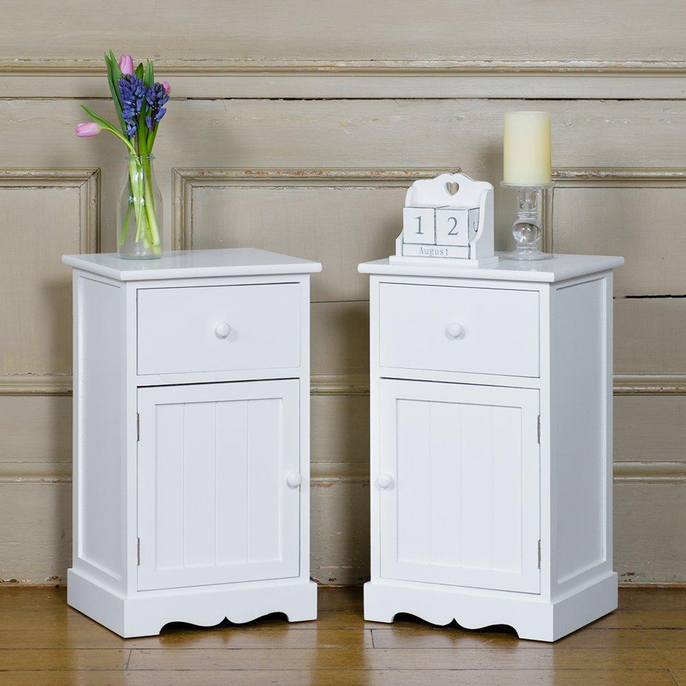 Mesas De Noche Blancas Cheap Set De Blancas Mesillas De