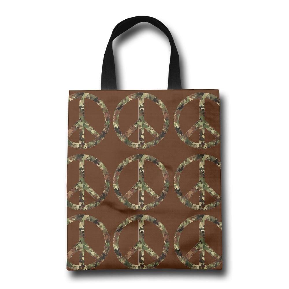 543eaa37d4 85%OFF Peace Symbol Camo Mens Graphic Shopping Bags Market Bag ...