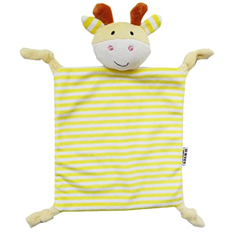 yeahibaby Doudou para capazo manta de seguridad de peluche para bebé (ciervo amarillo)