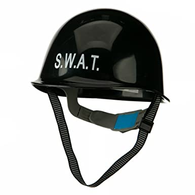 Adult SWAT Helmet - Black OSFM Costume Hat