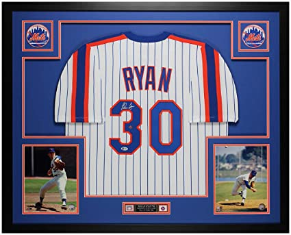 How To Frame A Jersey >> Nolan Ryan Autographed Pinstriped New York Mets Jersey