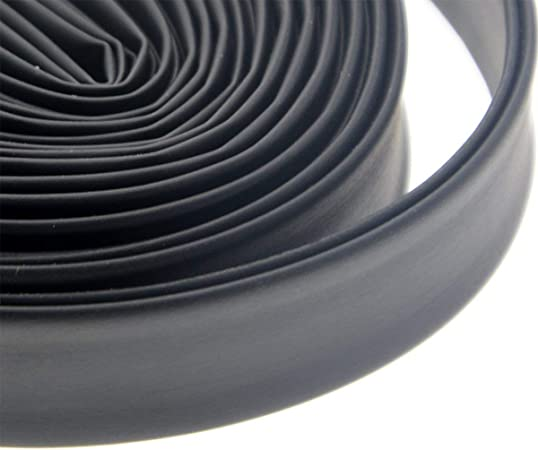 Black 70mm Dia.Polyolefin Tube Sleeving Heat Shrink Tubing 2m