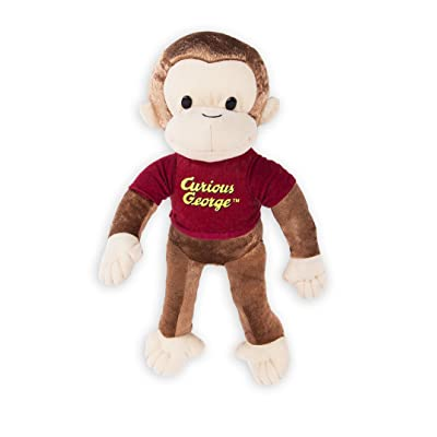 Kelly Toy Curious George Monkey Large Plush Doll Stuffed Toy 16 inches: Toys & Games
