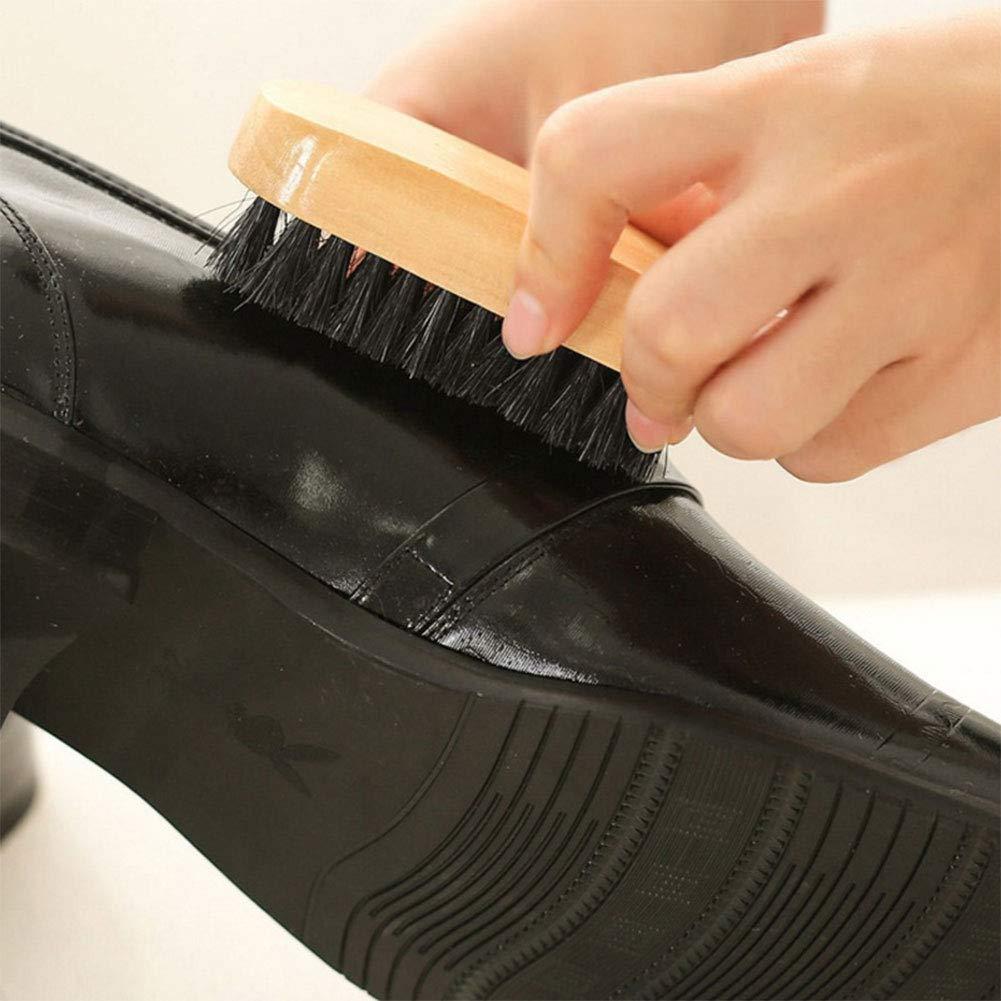 kit de Cirage en Cuir avec brosses /à Cire Brunes pour Le Polissage vitihipsy kit dentretien pour Chaussures