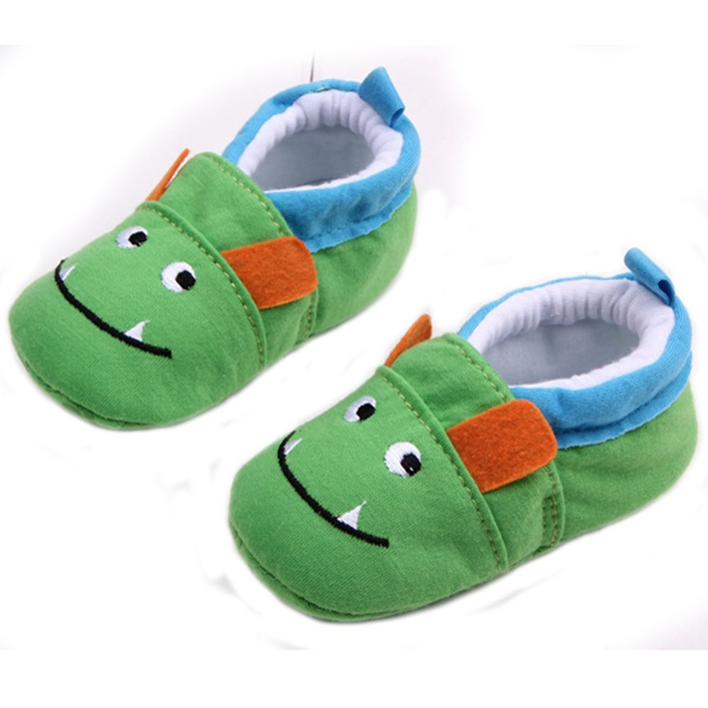 Elee Baby Infant Cartoon Cute Animal Pattern Slippers Soft Sole Non Slip Toddler Crib Shoes (7-12 Months,...
