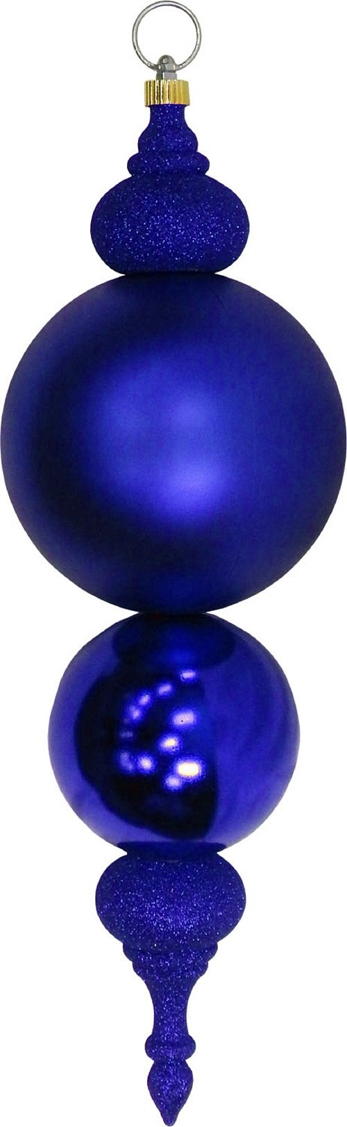 Christmas by Krebs Giant Commercial Shatterproof UV Resistant Plastic Christmas Finial Ornament Wedding Party Event Decor, 24'' (610mm), Blue, 2 Pieces by Christmas By Krebs