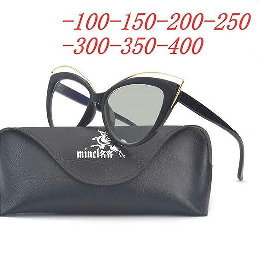 eba3b94d77b MINCL New Cat Myopia Sunglasses Finished Women Myopia Eyeglasses Frame Sun  Photochromic Sun glasses Myopia