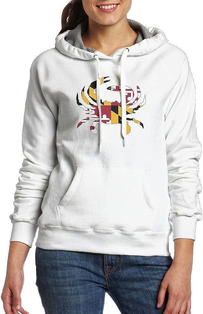 RMM KKK Lady Maryland Flag Crab Hoodie Fleece Hoodie