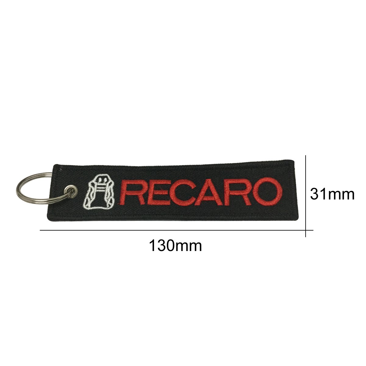 Recaro Tag Keychain For Car Auto Accessories Motorcycles Bike Biker Keychain Accessories Gifts Teratai 1pcs