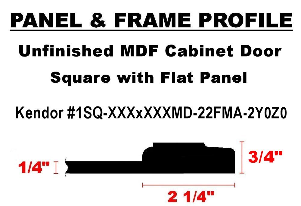 Unfinished Maple Cabinet Door 39H x 12W Square with Raised Panel by Kendor