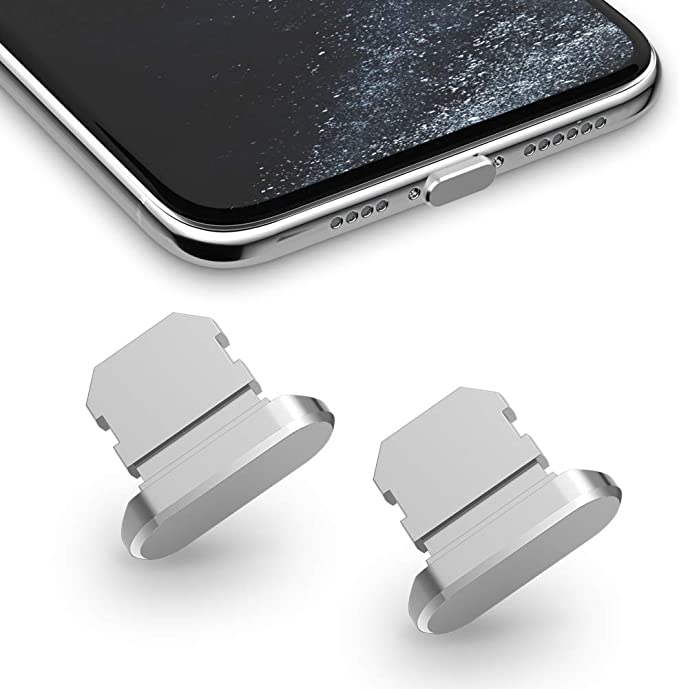 iPhone 11 Pro Max Dust Cover 8 Pin Dust Plug with Mini Storage Box iPhone Charging Port Plugs Compatible with iPhone 11 Pro//XS Max//XR// 8 Plus Grey TITACUTE 2 Pack Anti Dust Plugs for iPhone 11