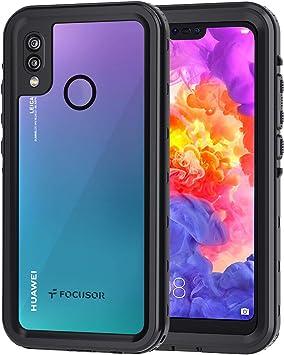 Focusor Coque Huawei P20 Lite,【Étanche Antichoc】 360 Protection intégrale IP68 Imperméable Housses Antipoussière Anti-Neige Housses Waterproof Case ...