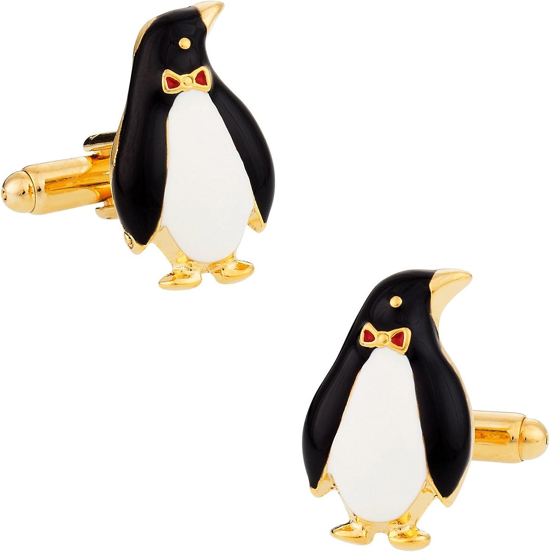 Cuff-Daddy Penguin Cufflinks Gold-Tone with Presentation Box