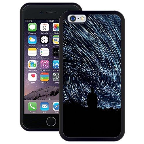 Sternenhimmel-Bewegung | Handgefertigt | iPhone 6 6s (4,7') | Schwarze Hülle