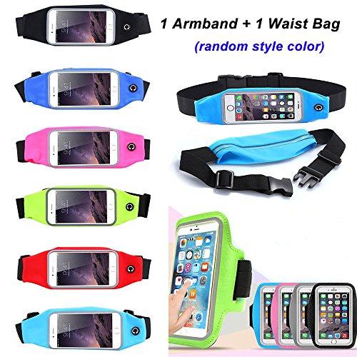 Sports Running Gym Waist Belt Bag Case for iphone 6 Plus 5.5 Black - 4