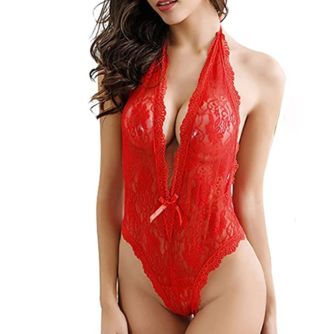 Bodysuit mujer lenceria encaje,Morwind body picardias tallas grandes mujer conjunto ropa interior mujer push