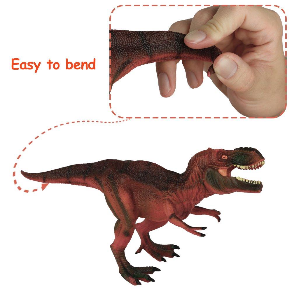 Tiranosaurio Rex Juguete T Rex Figura de Dinosaurio Súper Realista Juguetes TPR Resistente Moldes Dinosaurios de Juguete Figura y Regalo Colección para Niños