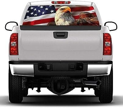 Bald Eagle US USA Rear Window Decal Sticker Pick-up Truck SUV Car