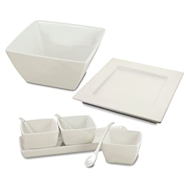 KOVOT Porcelain Serving Dishes (9 Piece Entertaining Set)