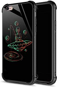CARLOCA iPhone 6S Plus Case,Alien Fishing Galaxsea iPhone 6 Plus Cases for Girls Boys,Graphic Design Shockproof Anti-Scratch Hard Back Case for Apple iPhone 6/6S Plus