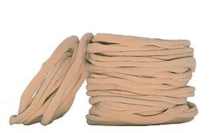 Super Soft Nude Nylon Headband For Newborn Baby Kids, High Stretchy, 100 Pcs For DIY Crafts