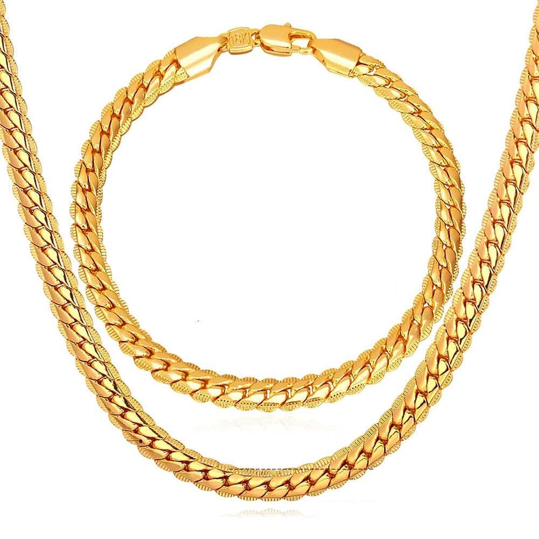 36b5c29e9ca6 EuroLux Cadena De Oro para Hombre Eslabón Cubano Chapada en Oro 14K Cadenas  de Oro para
