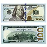 COPY MONEY PROP MONEY-Double-sided printing, paper stiffness, heavy. Like the real dollar, feel similar! One package contains 100 pieces of toy banknotes. 100 x $100 Prop Money Dollars New Style 10K Stack  Give your films the authentic look with this...