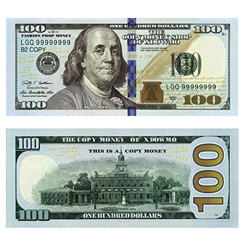 p Money Copy Money Double Sided Print 100 Dollar Bills Stack ()
