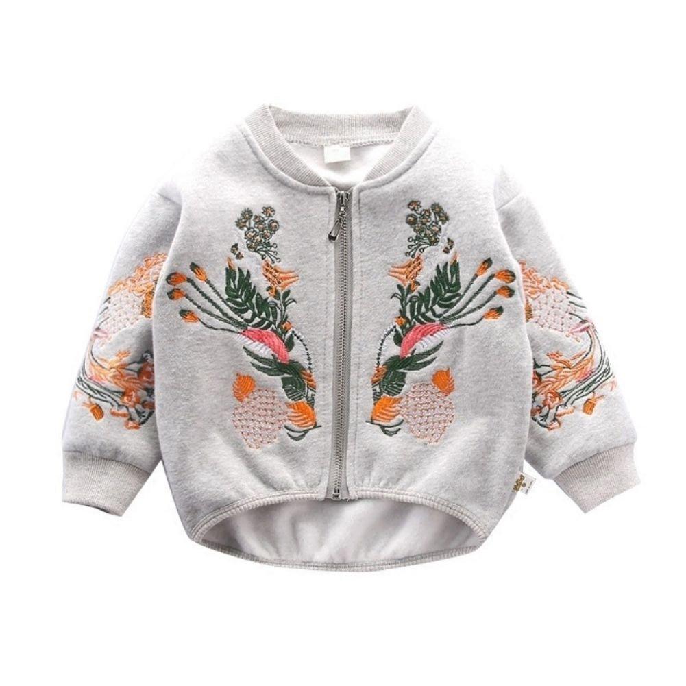 Bébé Fille Cardigan À Manches Longues Jumper Brodé Mode Printemps Outwear Veste Manteau Âge 1-6 Ans Shiningup