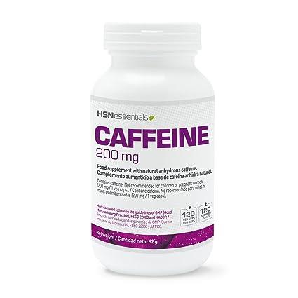 Cafeína Natural de HSN Essentials 200mg - Extracción de Granos de Café Verde, máxima energía