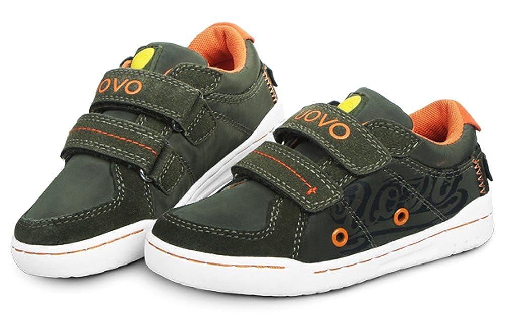 VECJUNIA Boys Girls Fashion Athletic Print Low Top Running Shoes School Gym Strap Sneakers Little Kid