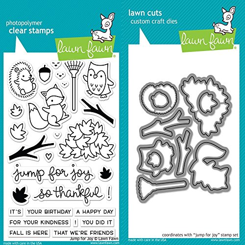 Lawn Fawn Clear Stamp & Die Set - Jump For Joy LF1212 & LF1213 (Clear Stamps Company)