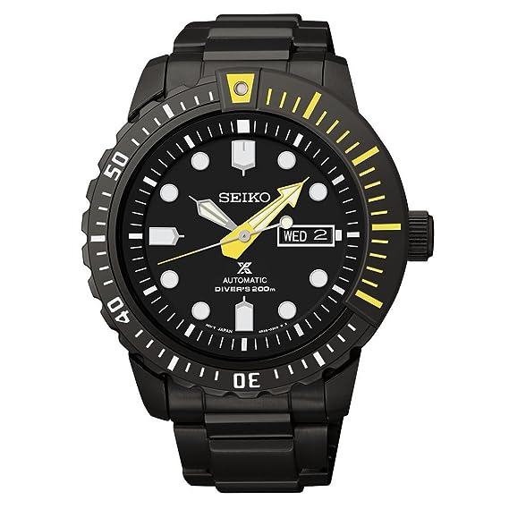 Seiko Prospex automática negro Dial Mens Reloj bañada en negro srp633: Seiko: Amazon.es: Relojes