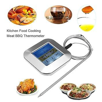 Colorido protector de barbacoa termómetro barbacoa cocina Touch alimentos con temporizador perfecto para en asados lectura