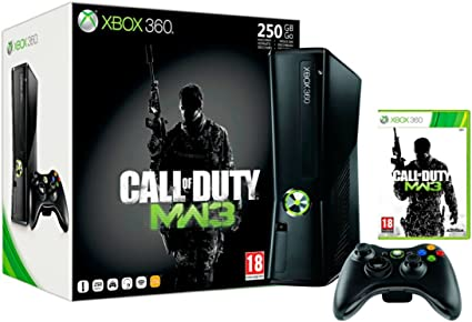 Microsoft Xbox 360 250GB + Call of Duty: Modern Warfare 3 Negro ...