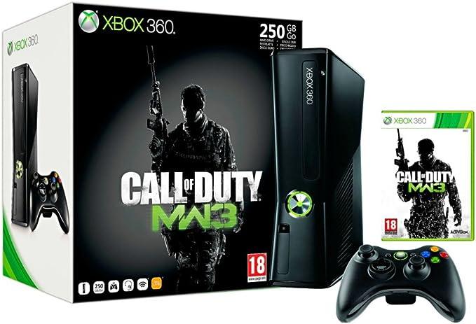 Microsoft Xbox 360 250GB + Call of Duty: Modern Warfare 3 Negro Wifi - Videoconsolas (Xbox 360, Negro, 512 MB, DDR3, Unidad de disco duro, 250 GB): Amazon.es: Videojuegos