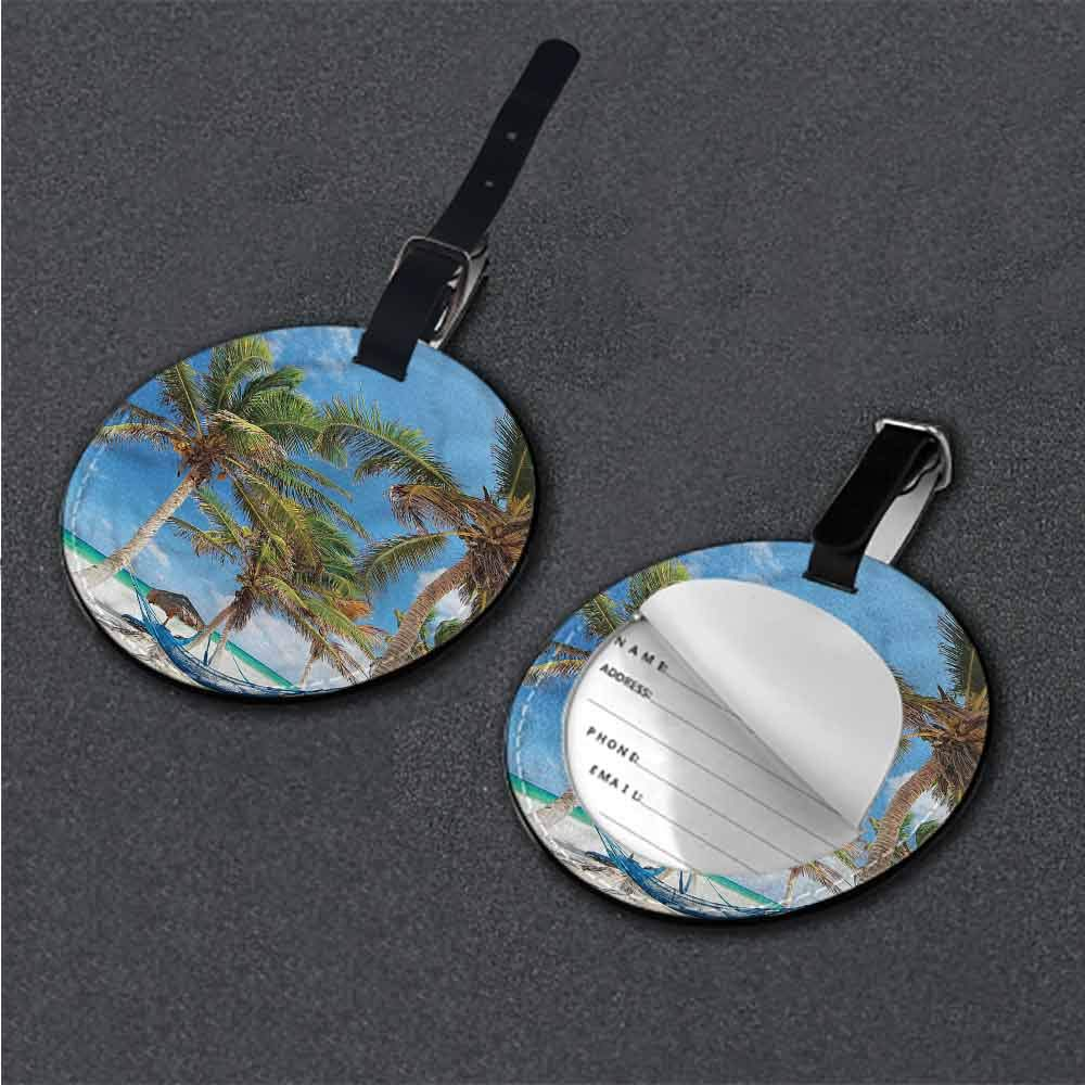 Personalized Beach,Tropical Beach Sun Suitcase Tag