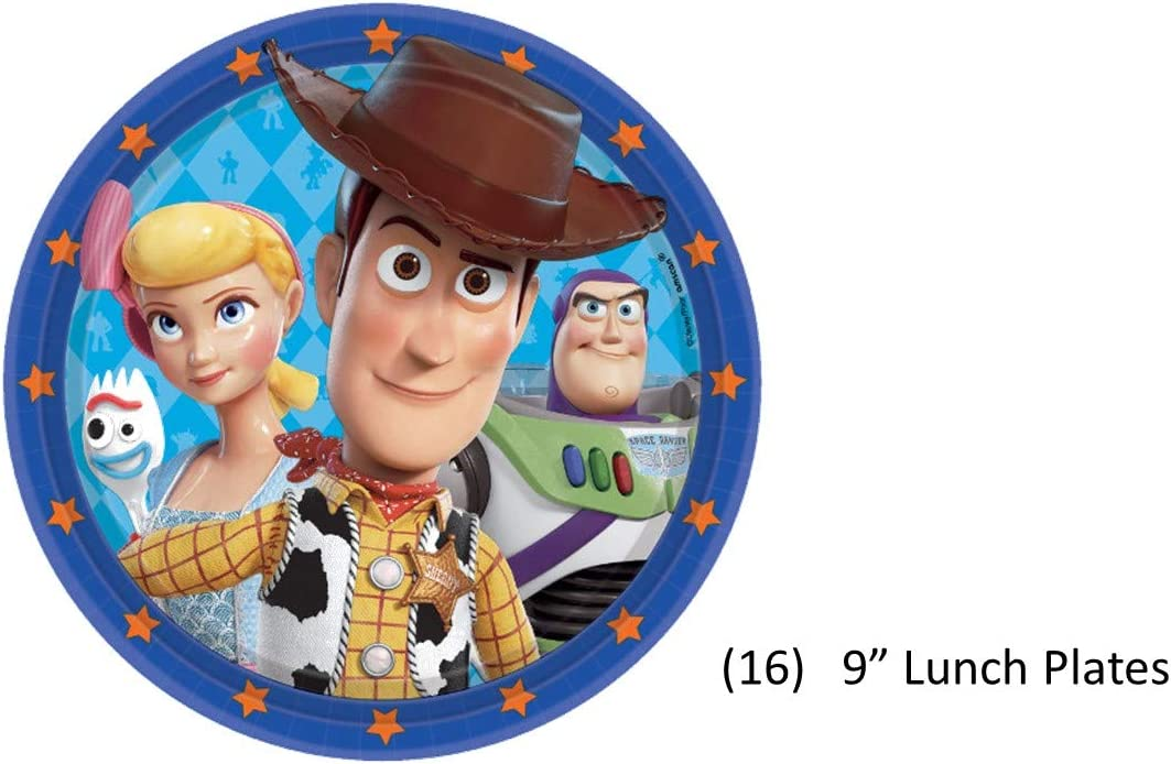 Toy Story Plates and Napkins Party Supply Bundle for 16 Guests