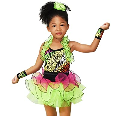 MiDee Girls Decorative Border Halter Ballet Dance Costume Tutu Party Dress (IC Multi Color  sc 1 st  Amazon.com & Amazon.com: MiDee Girls Decorative Border Halter Ballet Dance ...