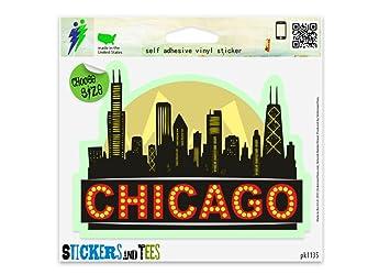 Amazoncom Chicago City Skyline Black Vinyl Car Bumper Window - Window stickers for cars chicago