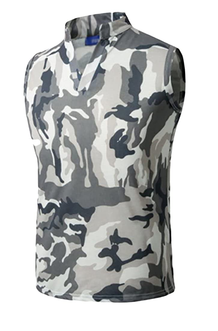 Keaac Men's Summer Camouflage Slim Fit Cami Tank Tops