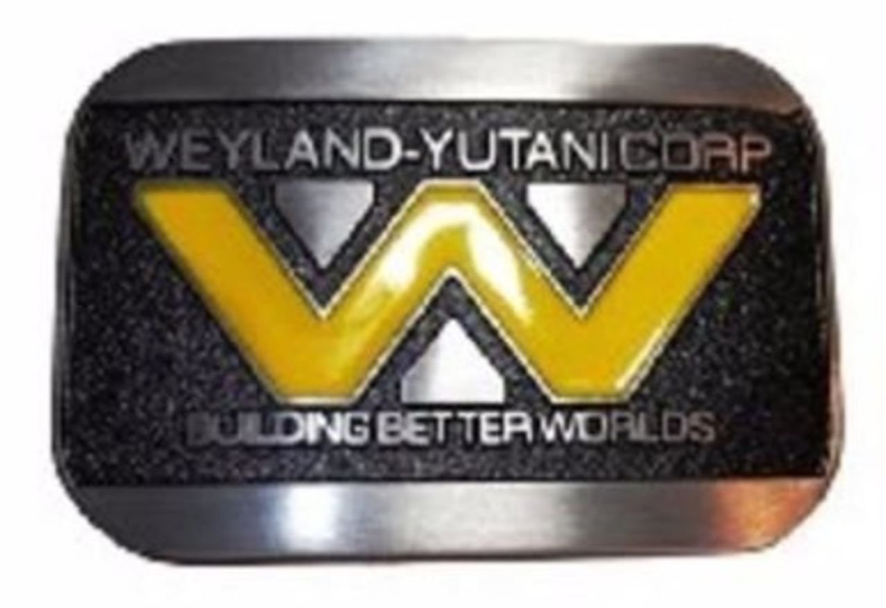 Alien WEYLAND YUTANI CORP Logo Metal Enamel BELT BUCKLE