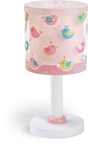 Dalber 60291 Oiseaux et cœurs Lampe de table, plastique