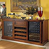Siena Wine Credenza with Two 28 Bottle Touchscreen Wine Refrigerators