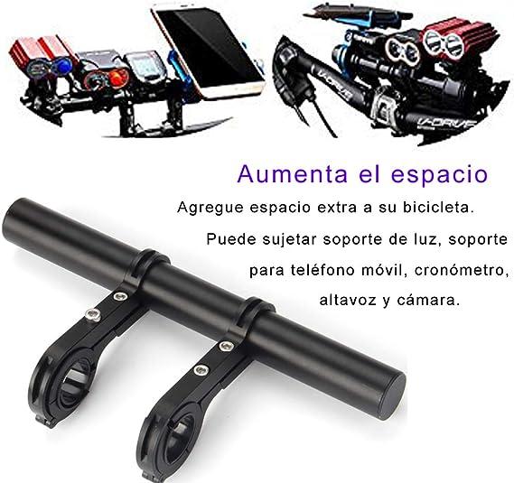 20.2cm Extensor de Manillar para Bici, Doble Aleación de Aluminio ...