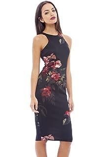 5787b9ebf0 Amazon.com: Women Cocktail Dresses Bohemian Off-Shoulder Slim Floral ...